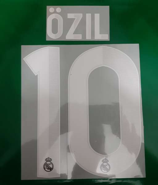 Font Ozil #10 Real Madrid 2012-2013 away third shirt white nameset