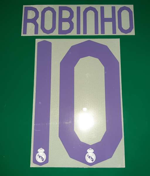 Font Robinho #10 Real Madrid 2007-2008 home shirt jersey purple