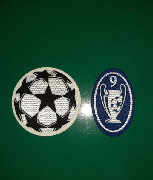 Patch Champion League Real Madrid 2007-2008 trophy 9 times blue badge