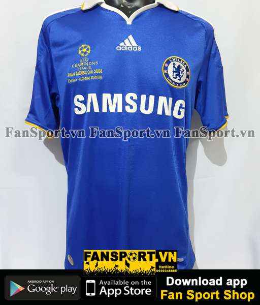 Áo đấu Chelsea Champion League Final 2008 home shirt jersey blue 2009