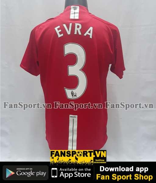 Áo đấu Evra #3 Manchester United 2007-2008-2009 home shirt jersey red