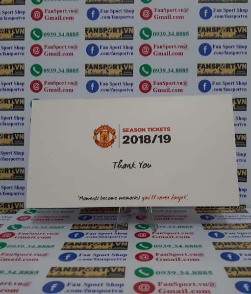 Hộp season ticket 2018-2019 Manchester United white box