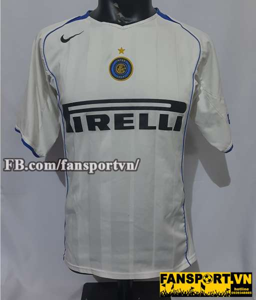 Áo đấu Inter Milan 2004-2005 away shirt jersey white