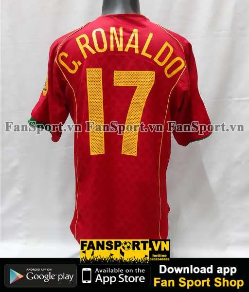 Áo đấu Ronaldo 17 Portugal Euro Final 2004 home shirt jersey 2005 2006