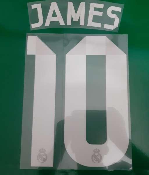Font James #10 Real madrid 2014-2015 away third shirt nameset