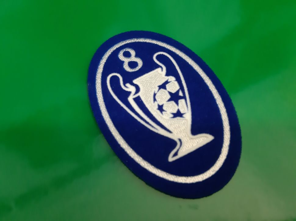 Patch Champion League 8 times trophy 2000-2012 badge blue