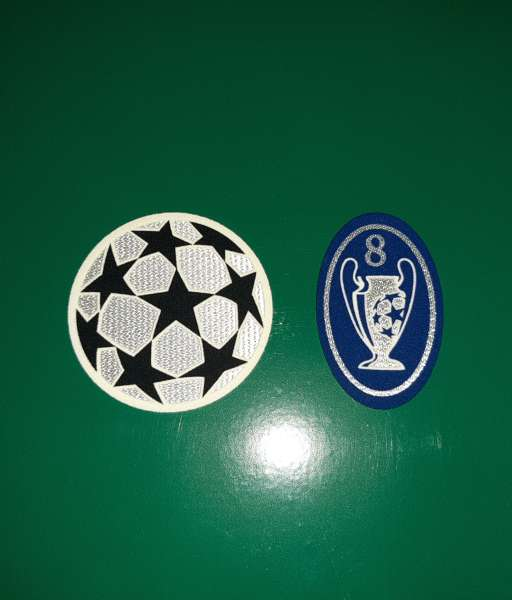 Patch Champion League Real Madrid 2000-2002 badge 8 times trophy blue