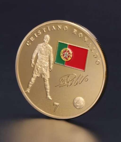 Đồng xu kỉ niệm Ronaldo Real Madrid Portugal coin
