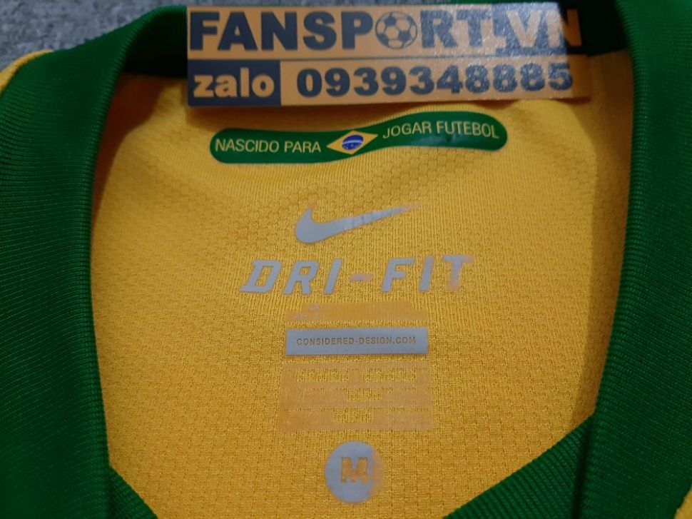 Áo đấu Brazil 2010-2011 home shirt jersey yellow