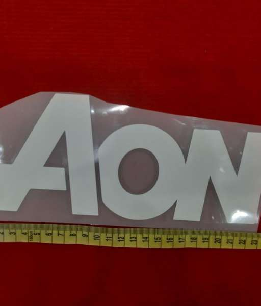 Decal white AON sponsor logo fan version