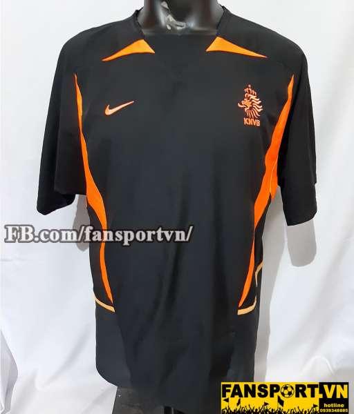 Áo đấu Netherland 2002 2003 2004 away shirt jersey black Holland