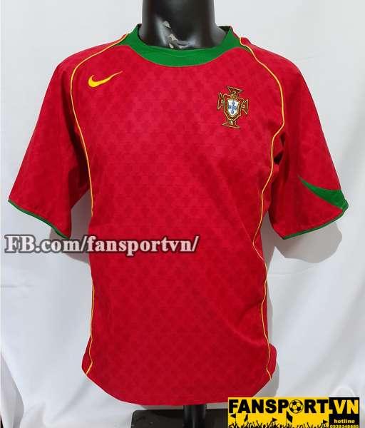 Áo đấu Portugal 2004-2005-2006 home shirt jersey red