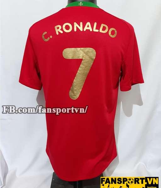 Áo đấu Ronaldo #7 Portugal 2008-2009-2010 home shirt jersey red