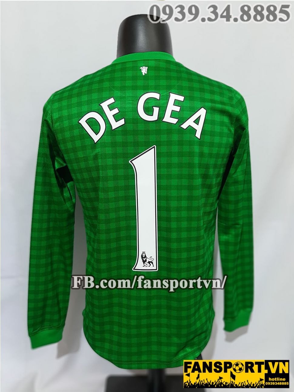 Áo De Gea #1 Manchester United 2012-2013 home goalkeeper shirt jerser