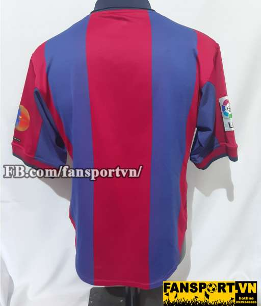 Áo đấu Barcelona 2000-2001 home shirt jersey red blue