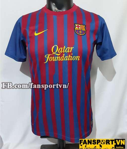 Áo đấu Barcelona 2011-2012 home shirt jersey red blue