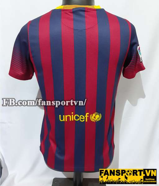 Áo đấu Barcelona 2013-2014 home shirt jersey red blue