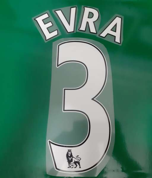 Font Evra #3 Manchester United Premier League 2007-2017 white nameset
