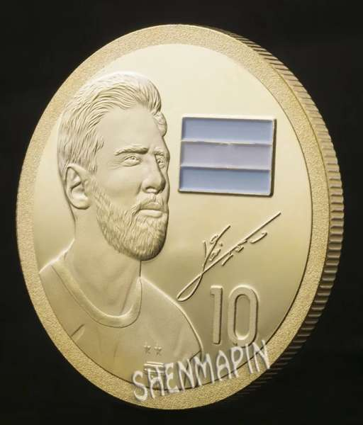 Đồng xu kỉ niệm Lionel Messi Argentina coin