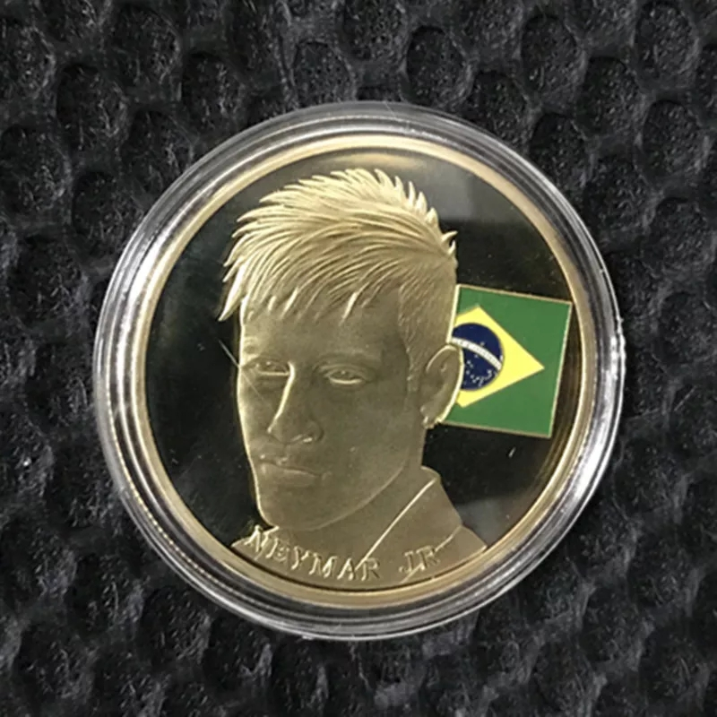 Đồng xu kỉ niệm Neymar Brazil coin