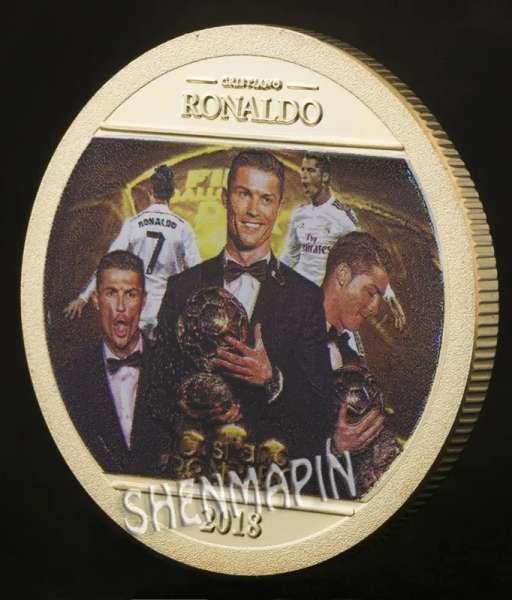 Đồng xu kỉ niệm Ronaldo ball d'or Portugal coin