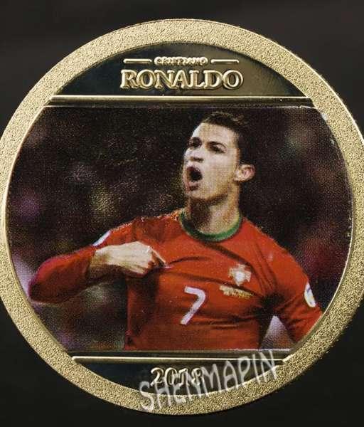 Đồng xu kỉ niệm Ronaldo Portugal coin