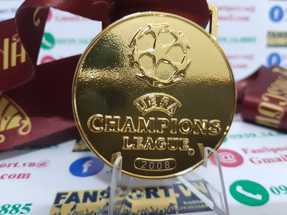 2008 Champion League Manchester United winner medal 2007 gold