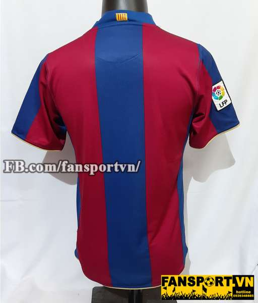 Áo đấu Barcelona 2007-2008 home shirt jersey red blue