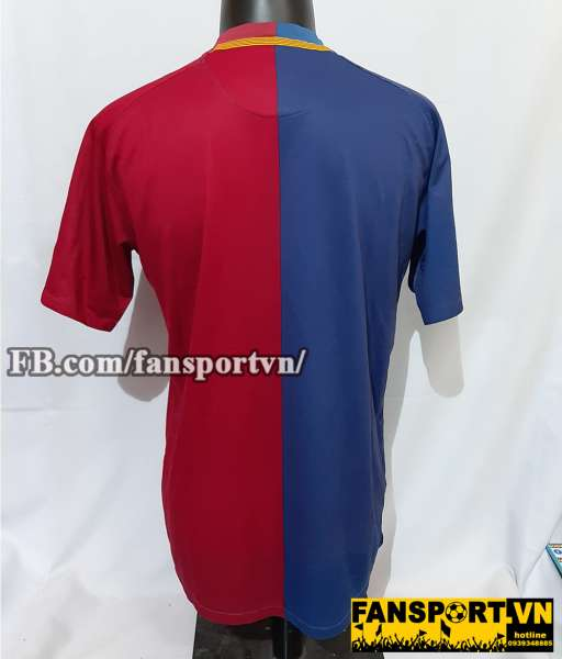 Áo đấu Barcelona 2008-2009 home shirt jersey red blue