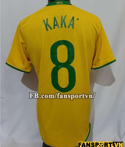 Áo đấu Kaka #8 Brazil 2008-2009-2010 home shirt jersey yellow
