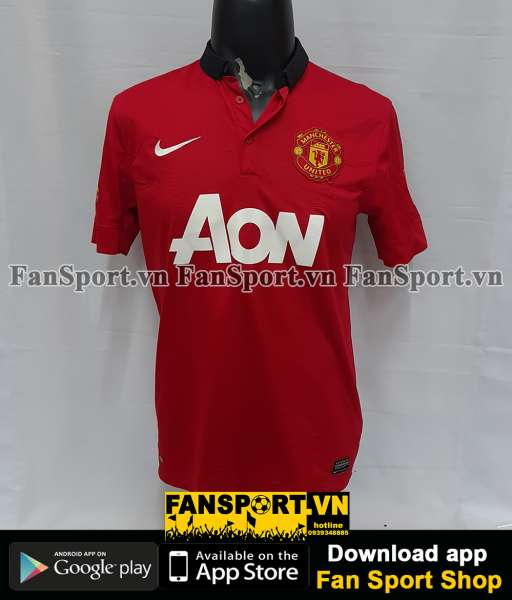Áo đấu Persie #20 Manchester United Community Shield 2013 home shirt