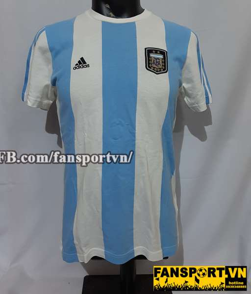 Áo T-shirt Messi #10 Argentina 2011-2012 blue white