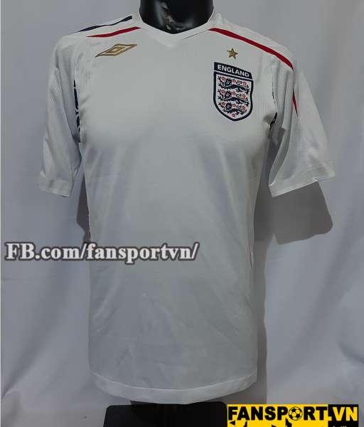 Áo đấu England 2007-2008-2009 home shirt jersey white