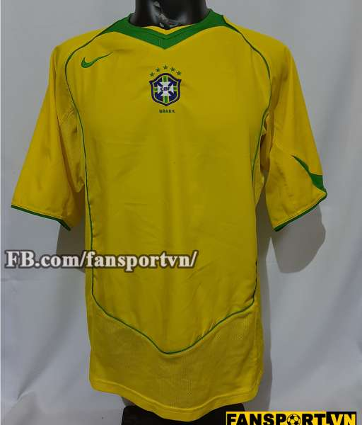 Áo đấu Brazil 2004-2005-2006 home shirt jersey yellow