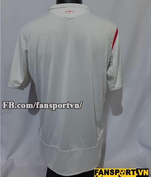 Áo đấu England 2005-2006-2007 home shirt jersey white