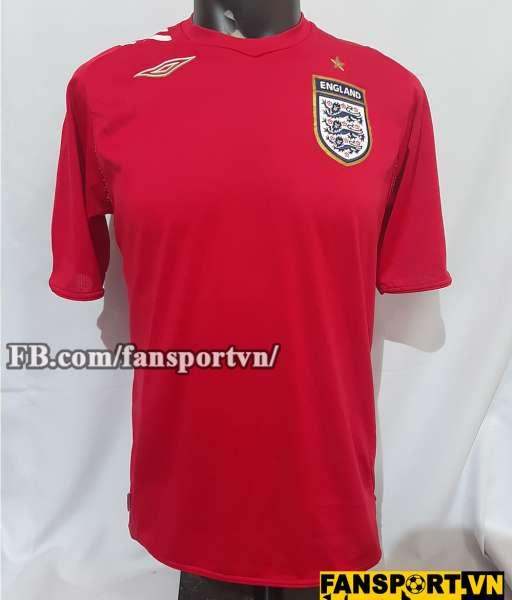 Áo đấu England 2006-2007-2008 away shirt jersey red