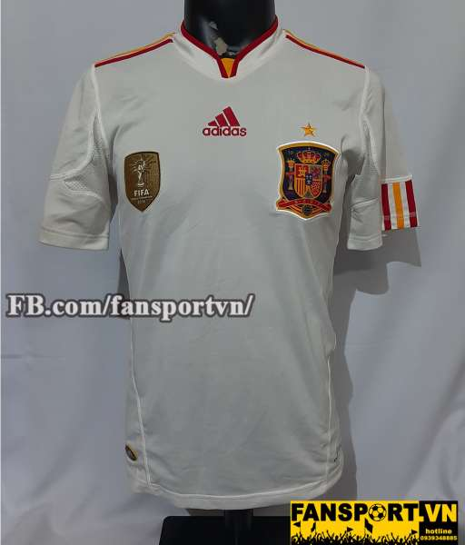 Áo đấu Spain 2011-2012 away shirt jersey white