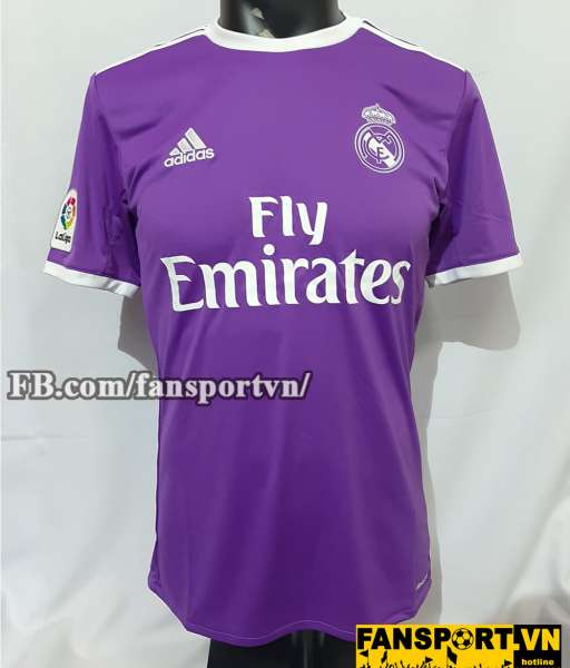 Áo đấu Real Madrid 2016-2017 away shirt jersey purple