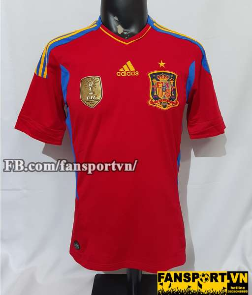 Áo đấu Spain 2011-2012 home shirt jersey red