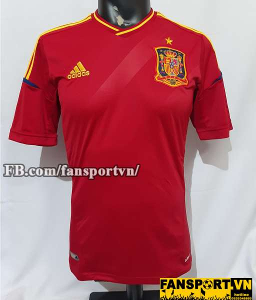 Áo đấu Spain 2012-2013 home shirt jersey red