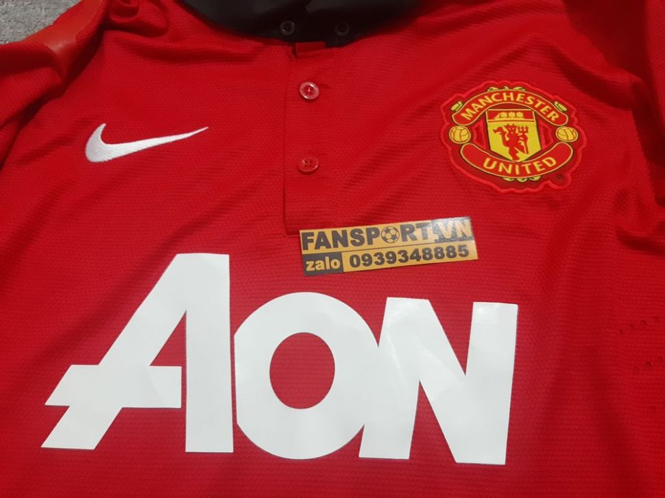 Áo đấu Manchester United 2013-2014 home player shirt jersey red