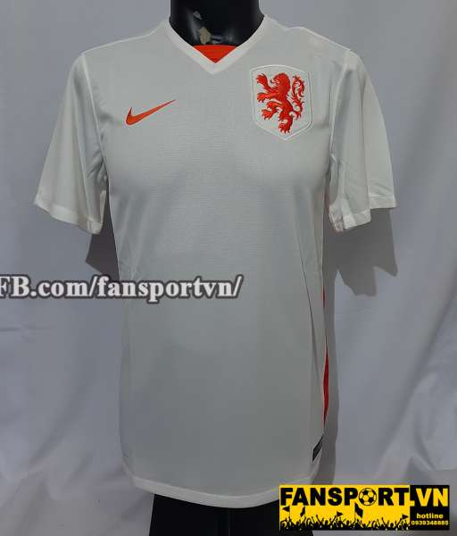 Áo đấu Netherland 2015-2016 away shirt white Holland