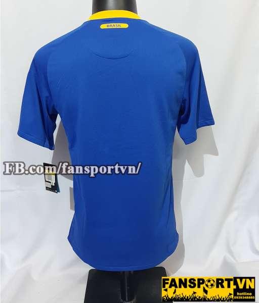 Áo đấu Brazil 2010-2011 away shirt jersey blue