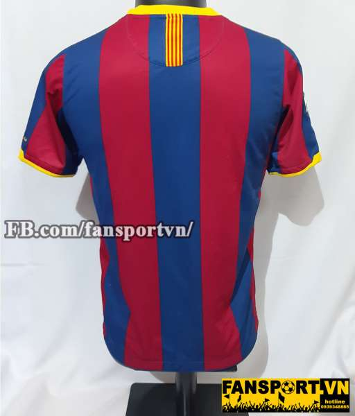 Áo đấu Barcelona 2010-2011 home shirt jersey red blue