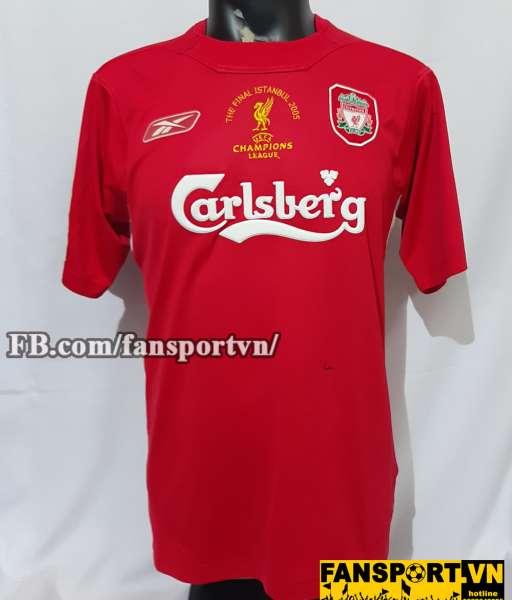 Áo đấu Liverpool Champion League final 2005 home shirt jersey red
