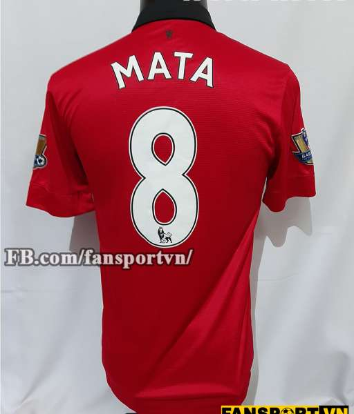 Áo đấu Mata #8 Manchester United 2013-2014 home shirt jersey red