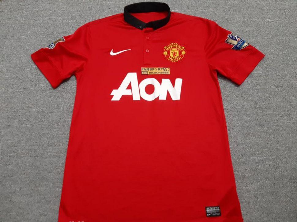 Áo đấu Mata #8 Manchester United 2013-2014 home shirt jersey red