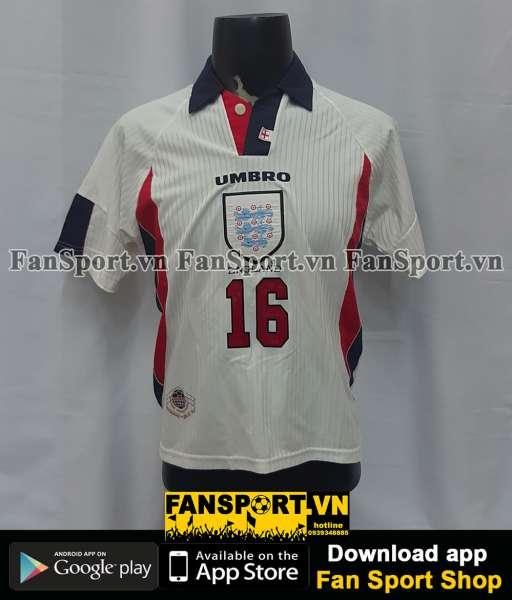 Áo đấu #16 England 1997-1998-1999 home shirt jersey white