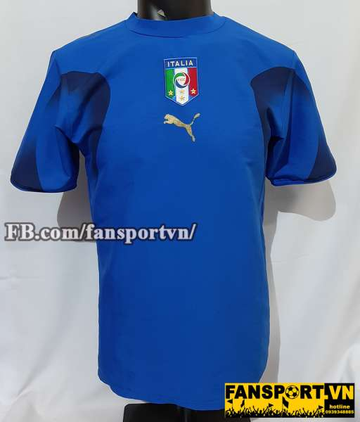 Áo đấu Italy 2006-2007-2008 home shirt jersey blue World Cup