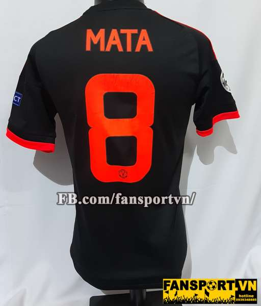 Áo đấu Mata #8 Manchester United 2015-2016 Champion League third shirt
